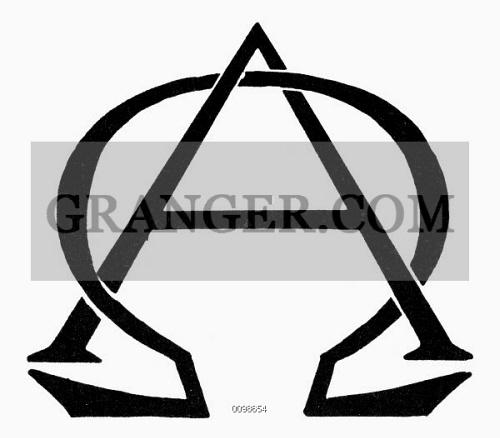 Image Of Symbol Beginning End Greek Letters Alpha And Omega