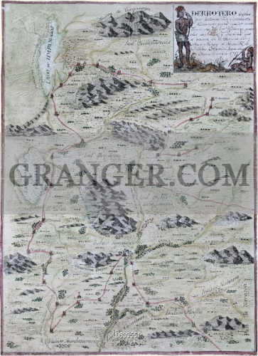 Image of MAP: SOUTHWEST, 1777. - Map Showing Territory Covering ...